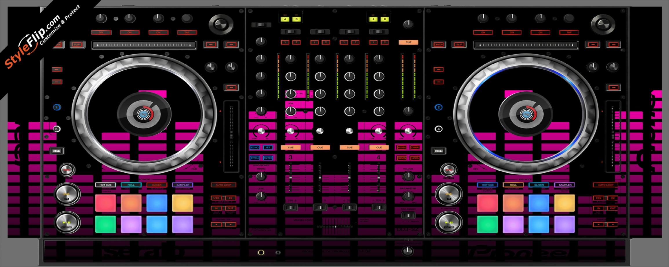 Pink Equalizer Pioneer DDJ-SZ