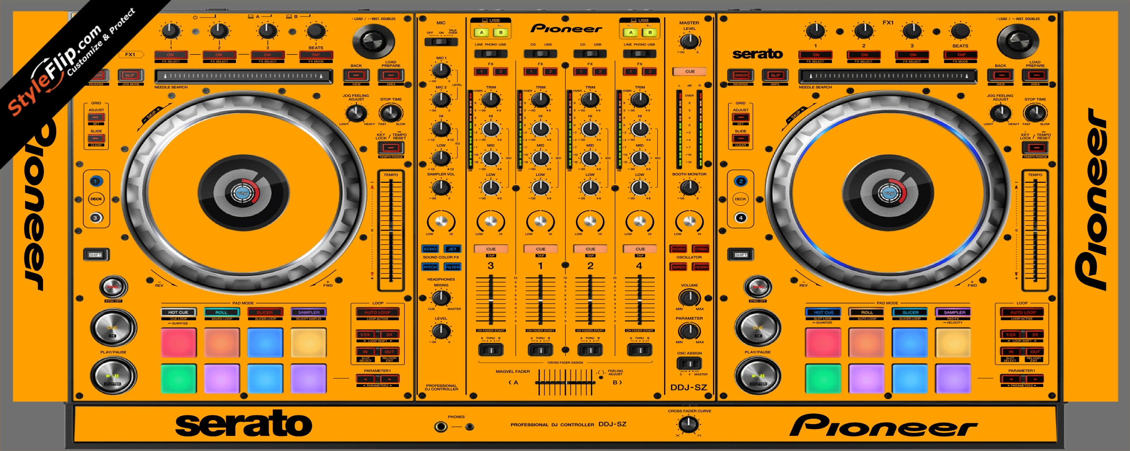 Solid Orange Pioneer DDJ-SZ