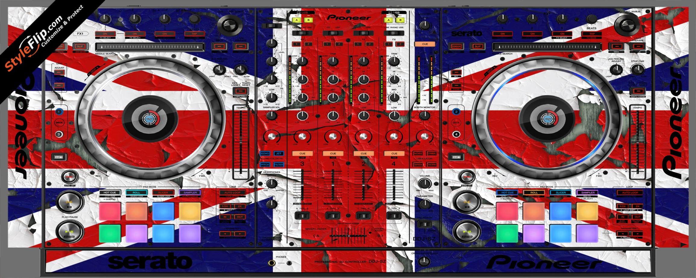 United Kingdom Flag 2  Pioneer DDJ-SZ