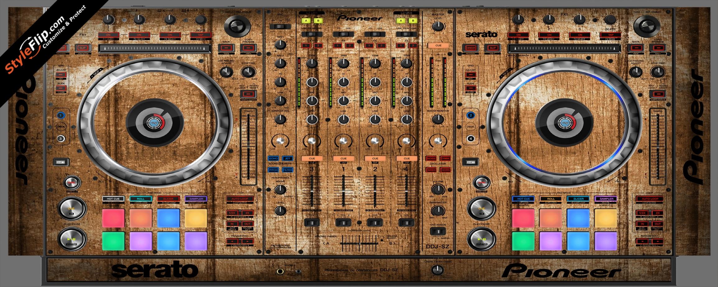 Wood Panels  Pioneer DDJ-SZ