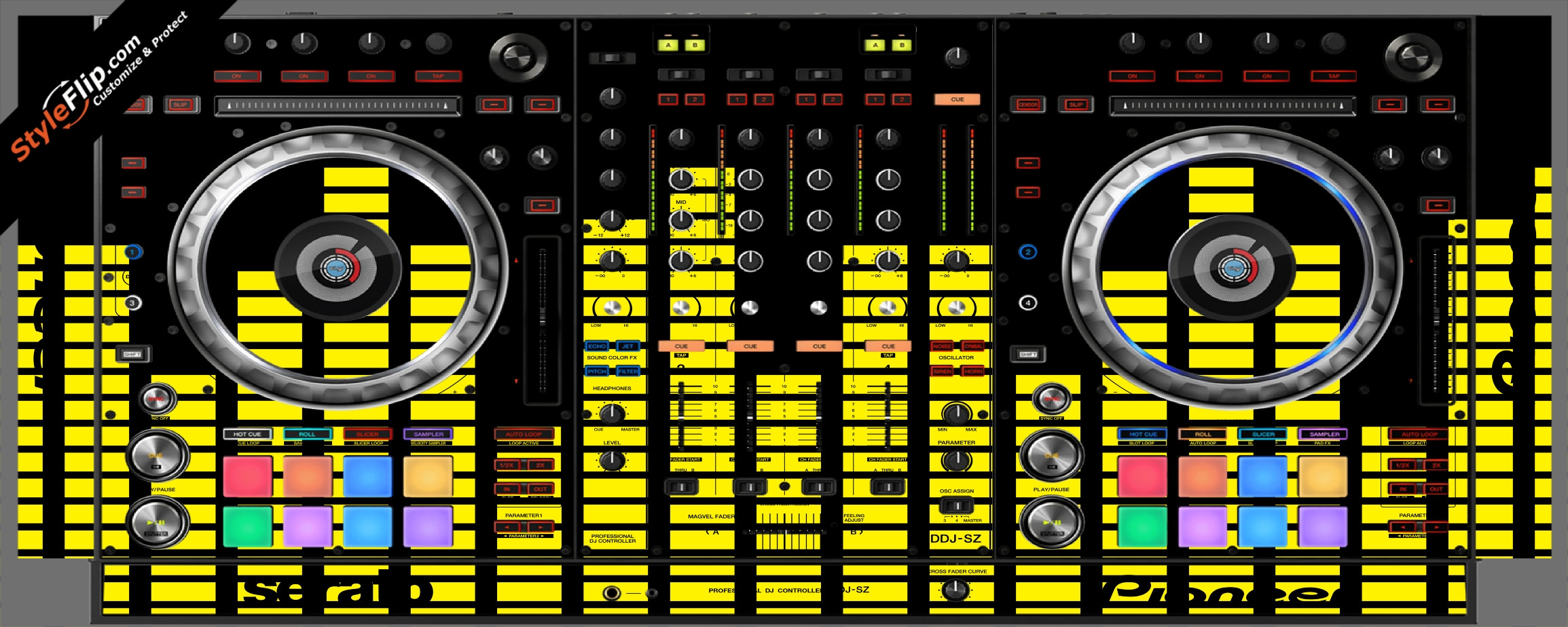 Yellow Equalizer  Pioneer DDJ-SZ