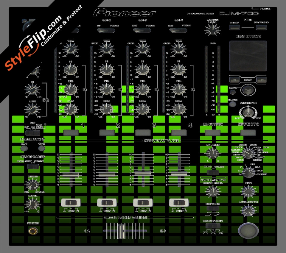 Lime Equalizer Pioneer DJM 700