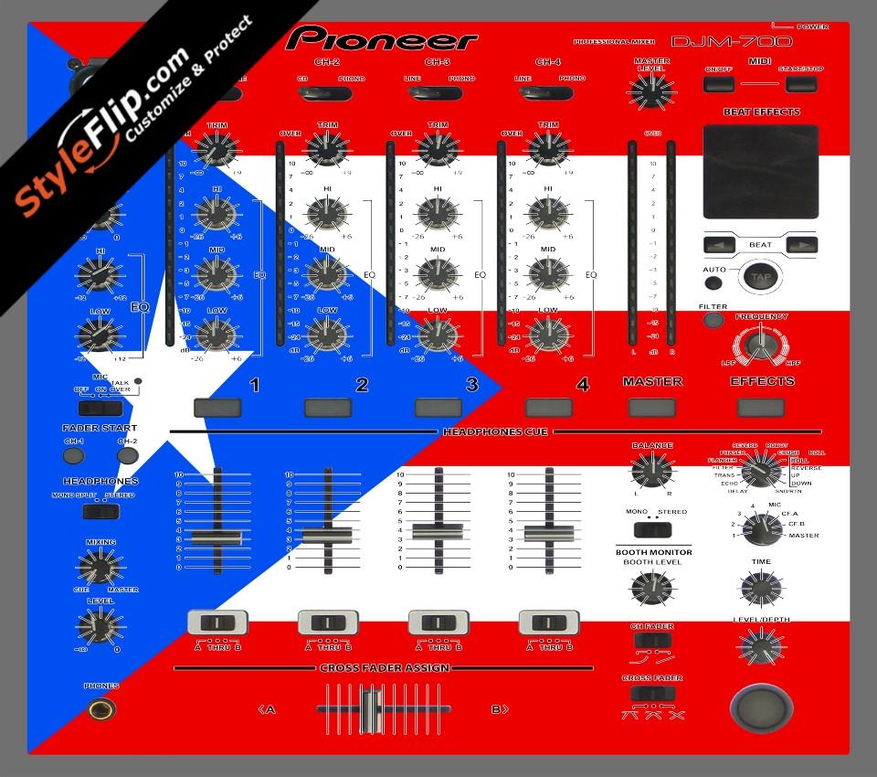 Puerto Rican flag  Pioneer DJM 700