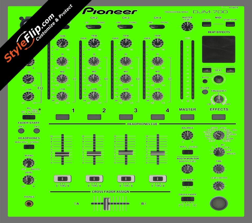 Solid Green Pioneer DJM 700