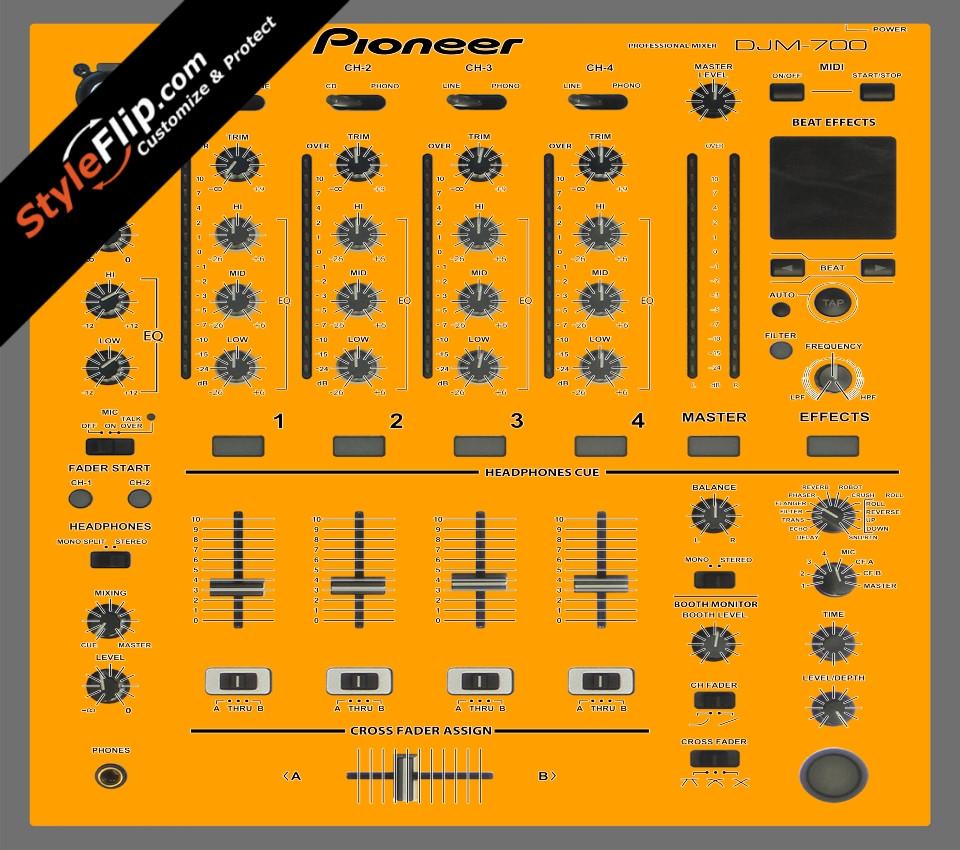 Solid Orange Pioneer DJM 700