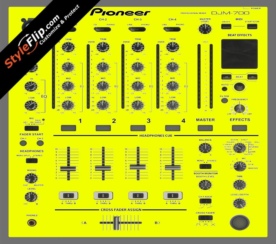 Solid Yellow Pioneer DJM 700