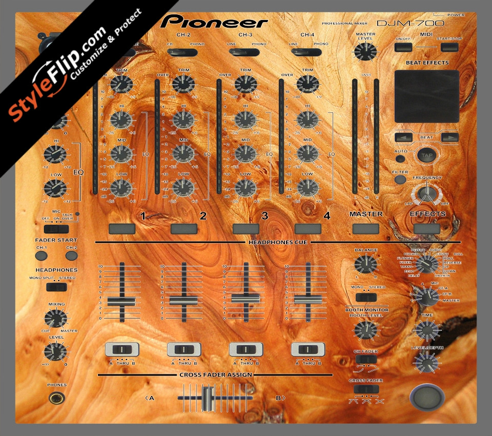 Stained Wood Pioneer DJM 700