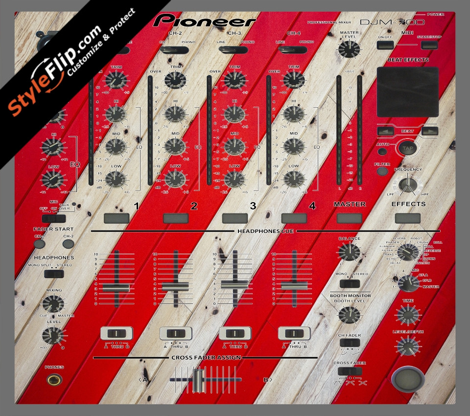 Striped Wood  Pioneer DJM 700