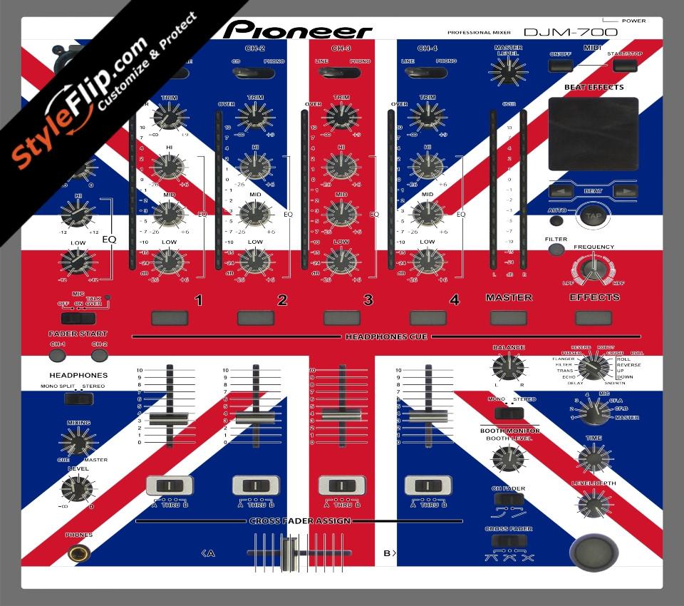 United Kingdom Flag Pioneer DJM 700