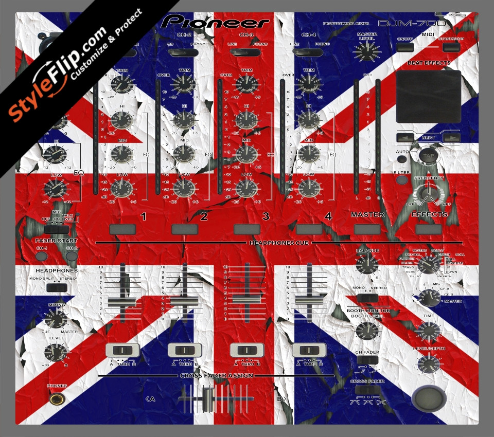 United Kingdom Flag 2  Pioneer DJM 700