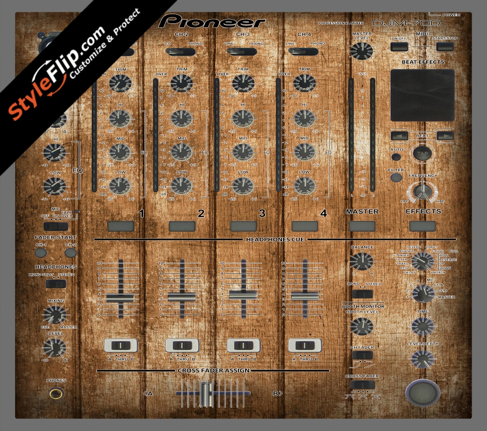 Wood Panels  Pioneer DJM 700