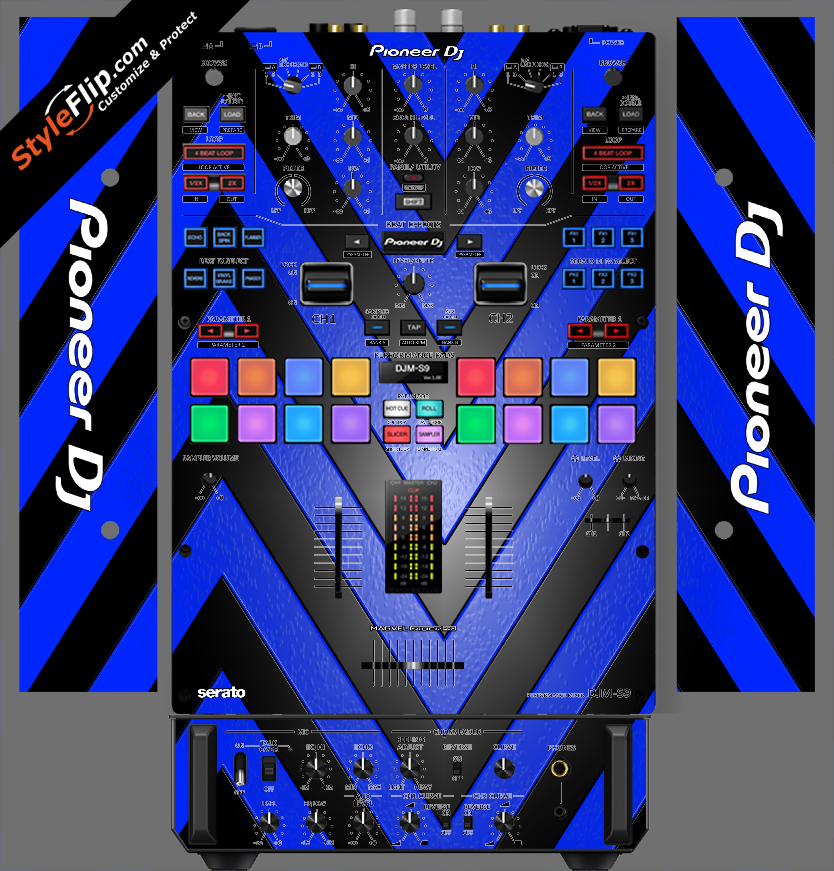 Black & Blue Chevron Pioneer DJM S9