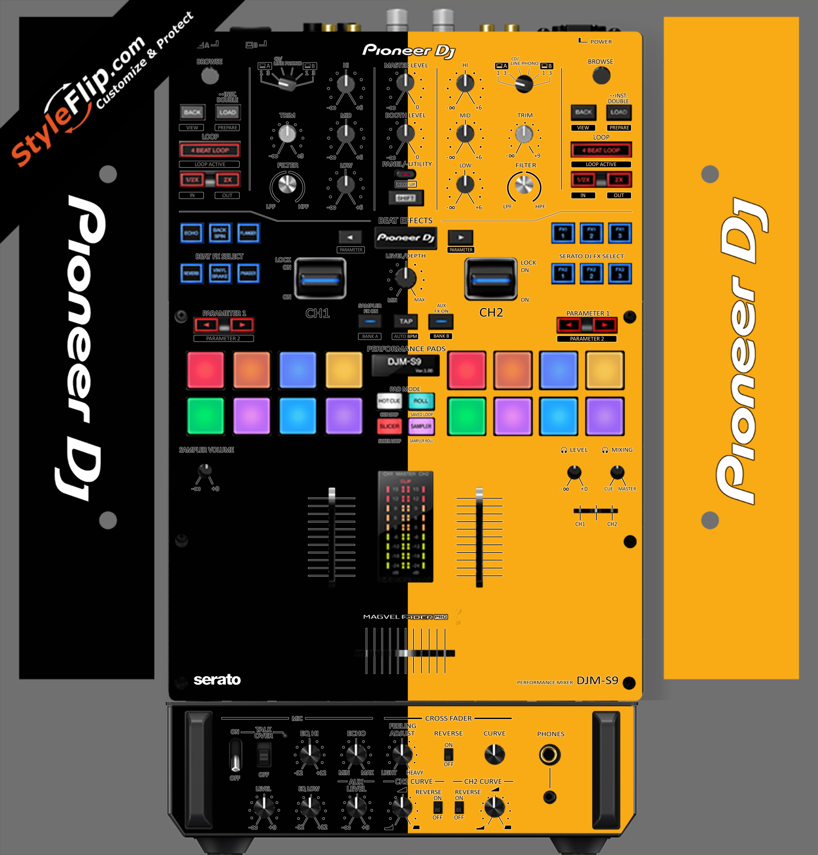 Black & Orange Pioneer DJM S9