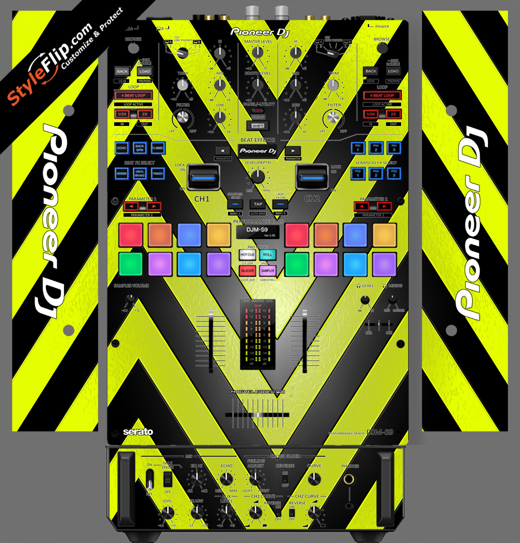 Black & Yellow Chevron Pioneer DJM S9