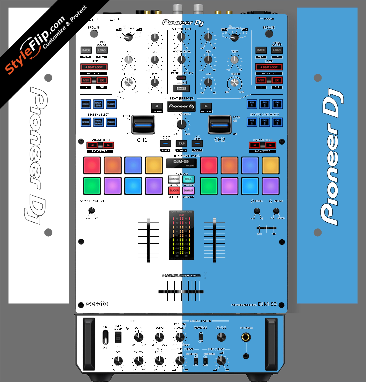 Blue & White Pioneer DJM S9