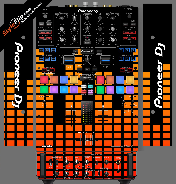 Orange Equalizer  Pioneer DJM S9