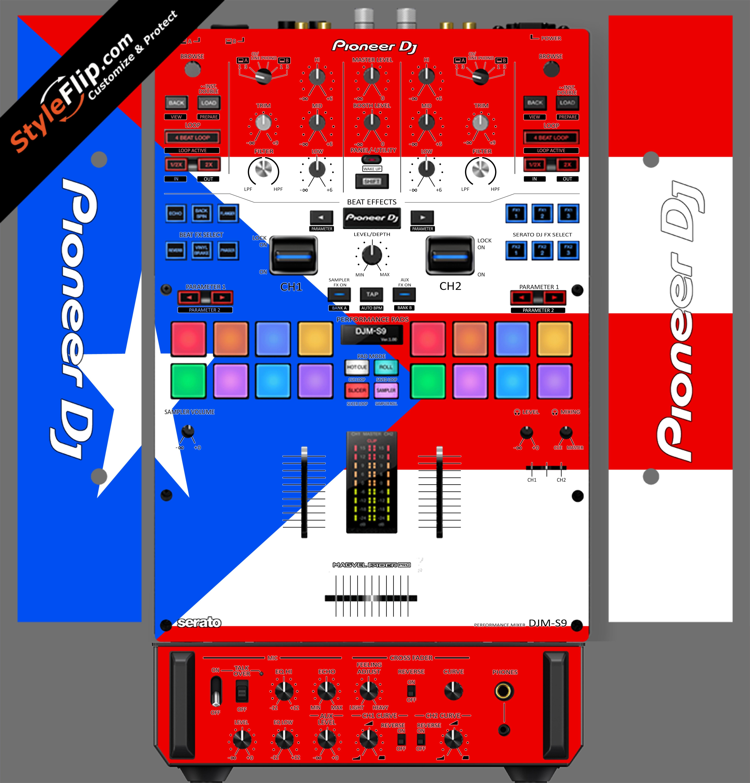 Puerto Rican flag  Pioneer DJM S9