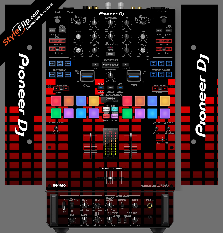 Red Equalizer Pioneer DJM S9