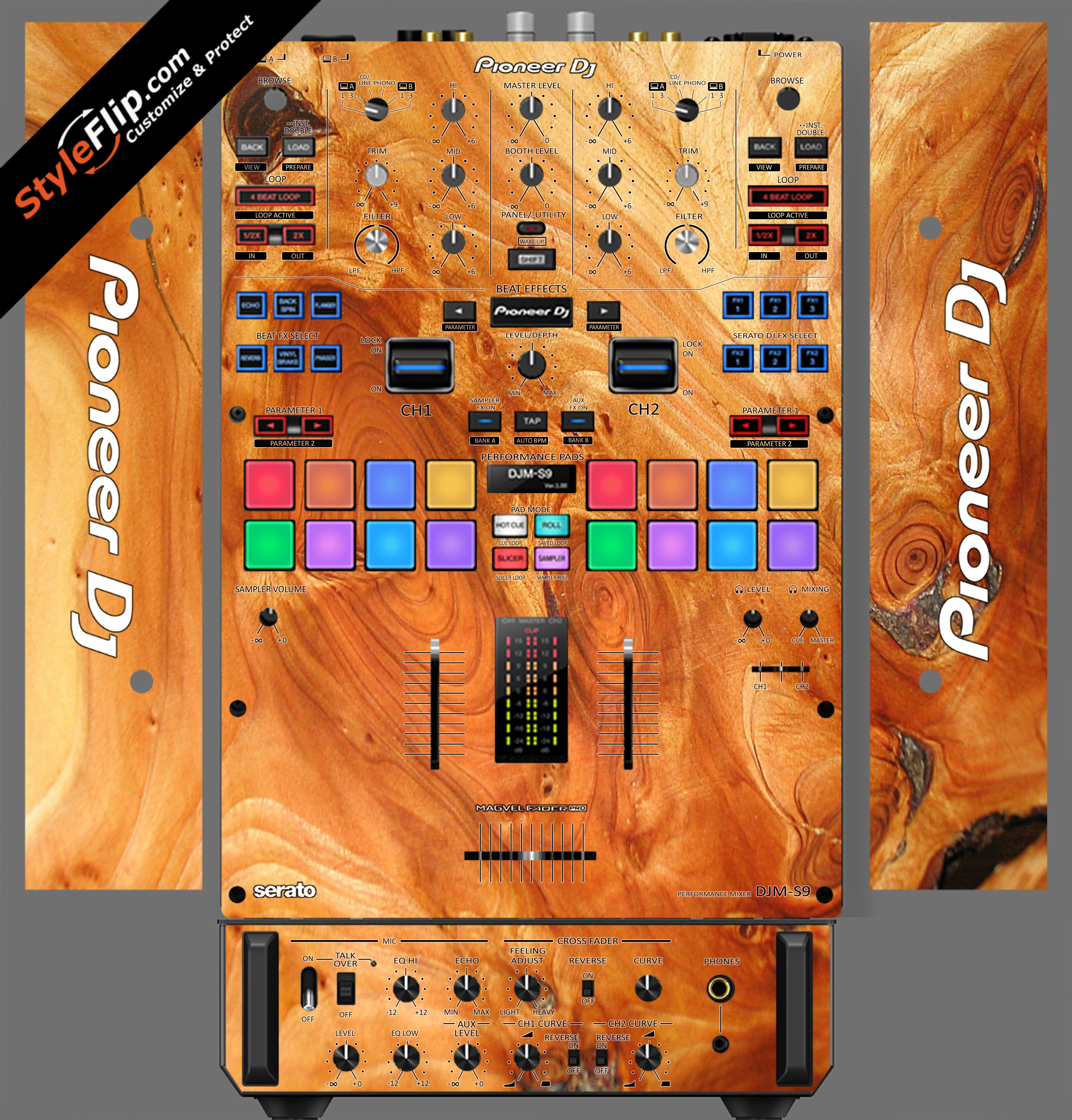 Stained Wood Pioneer DJM S9