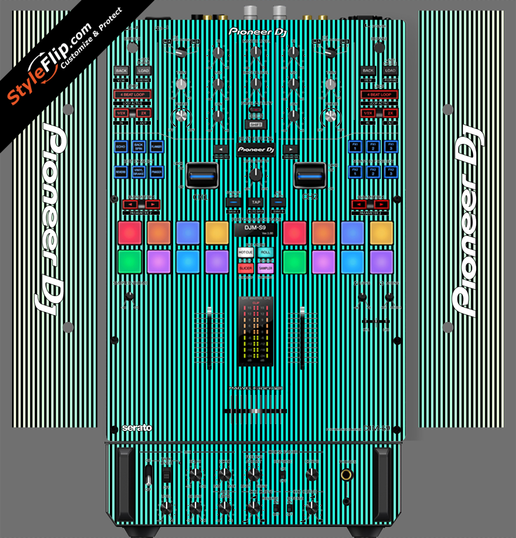 Teal Stripes Pioneer DJM S9