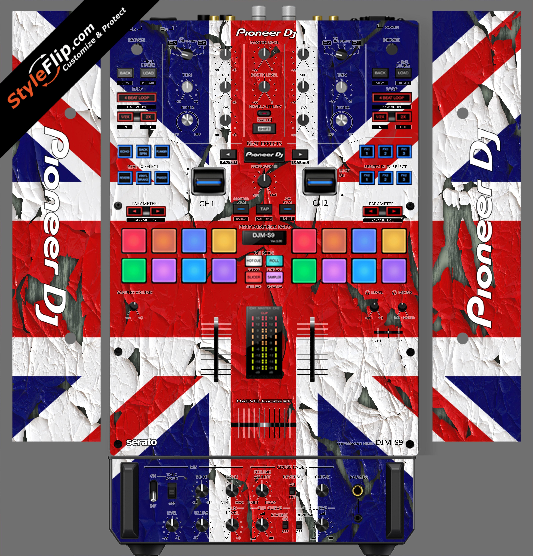 United Kingdom Flag 2  Pioneer DJM S9