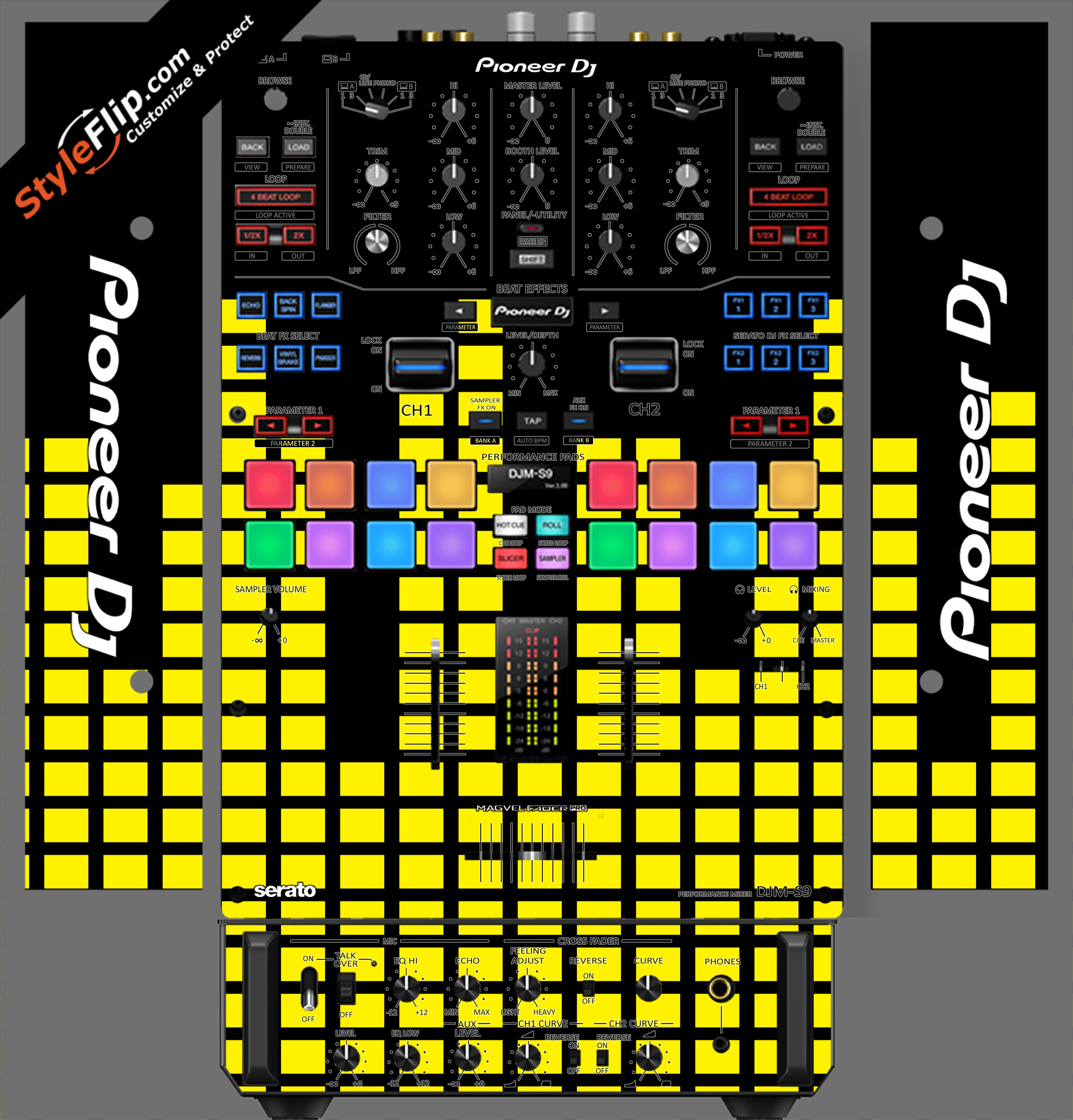 Yellow Equalizer  Pioneer DJM S9