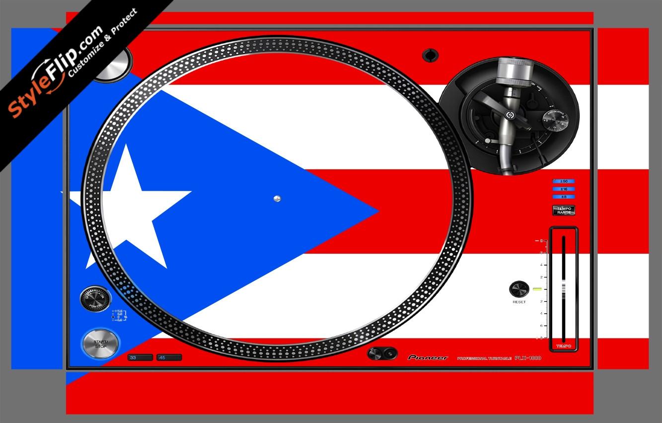 Puerto Rican flag  Pioneer PLX-1000