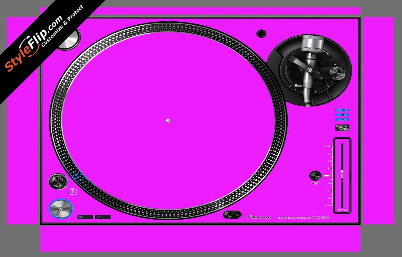 Solid Pink Pioneer PLX-1000