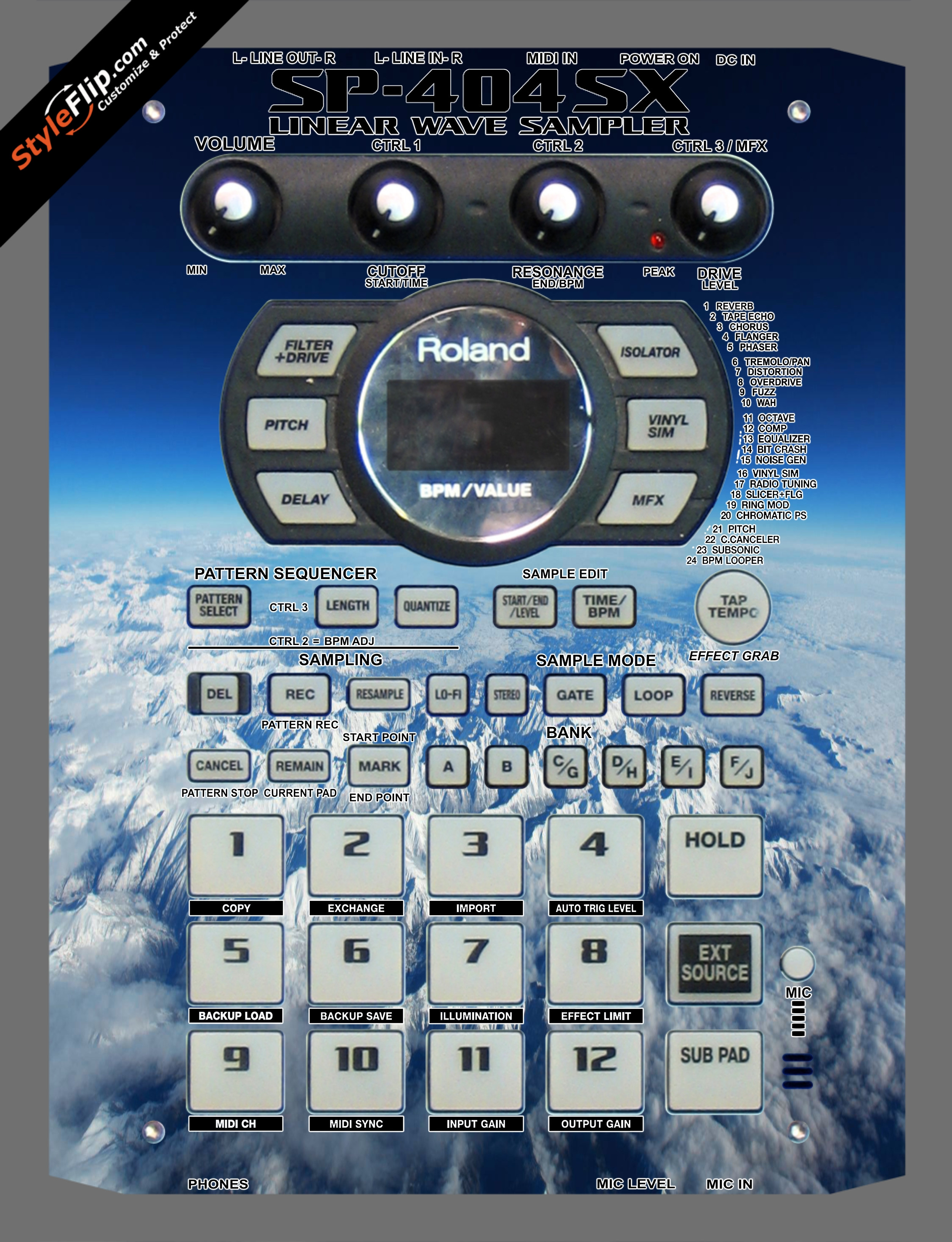 Above The Clouds  Roland SP-404 SX