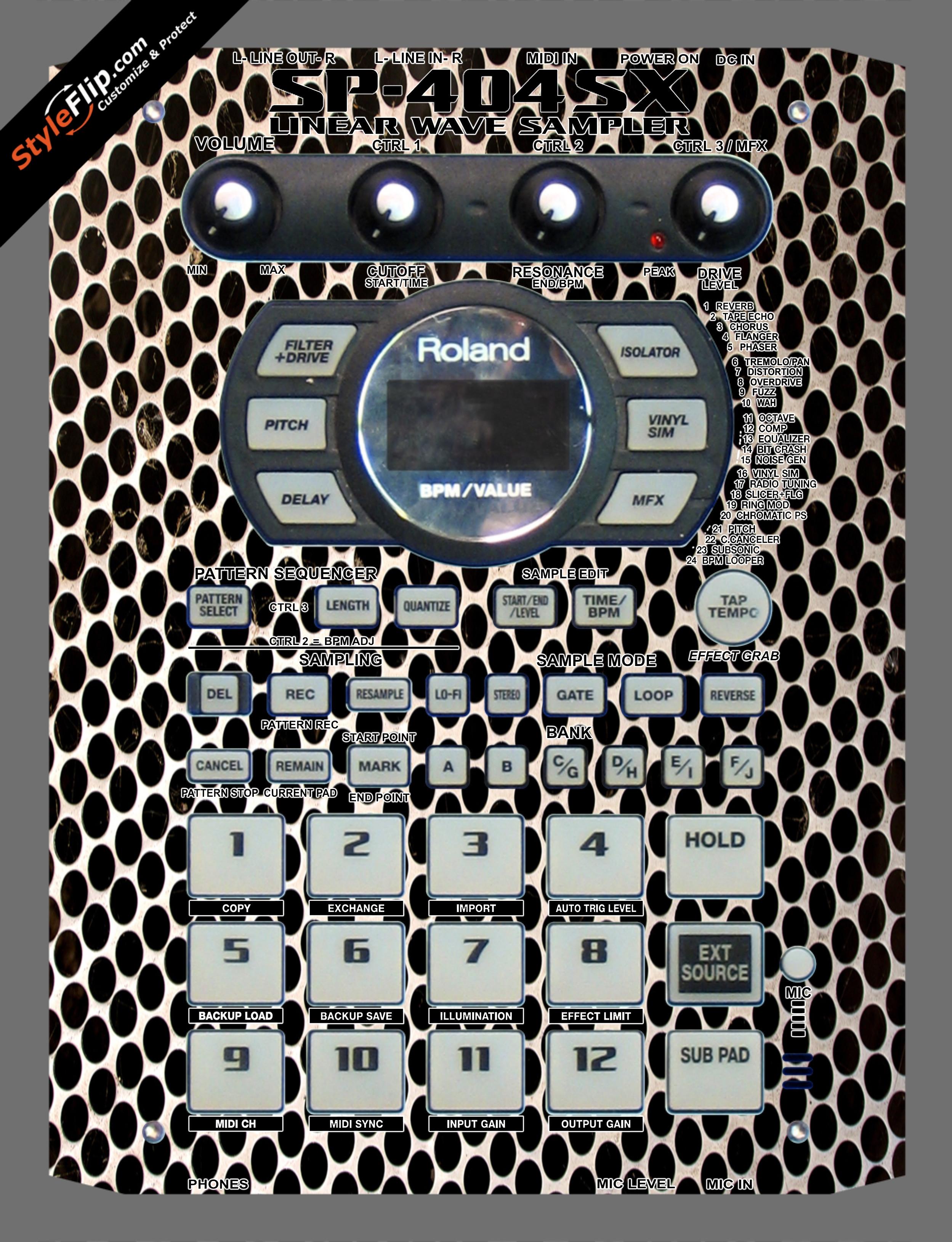 Bass Face Roland SP-404 SX