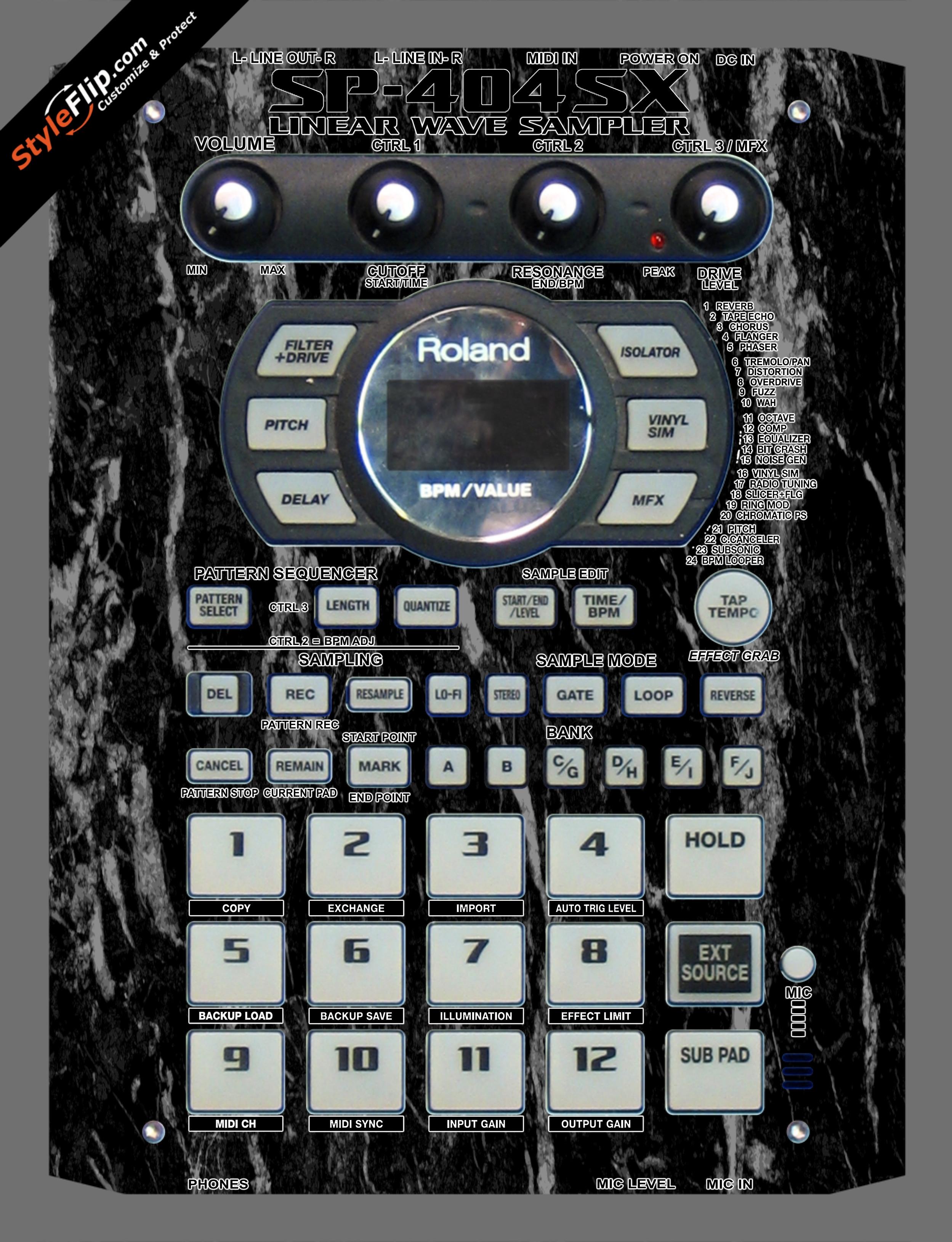 Black Marble  Roland SP-404 SX