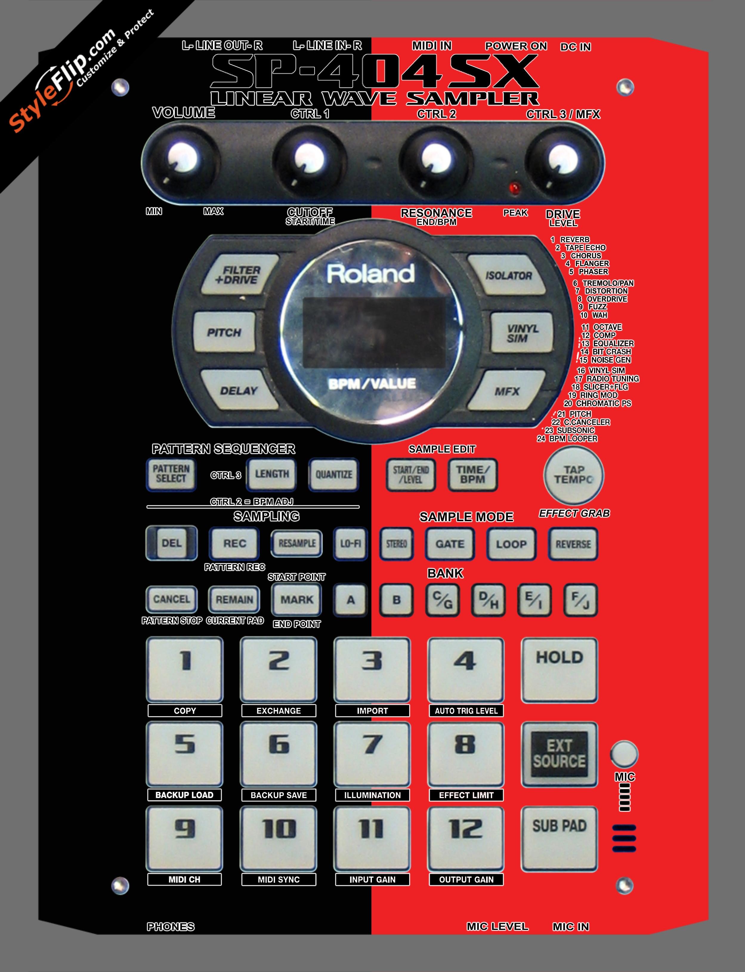 Black & Red Roland SP-404 SX