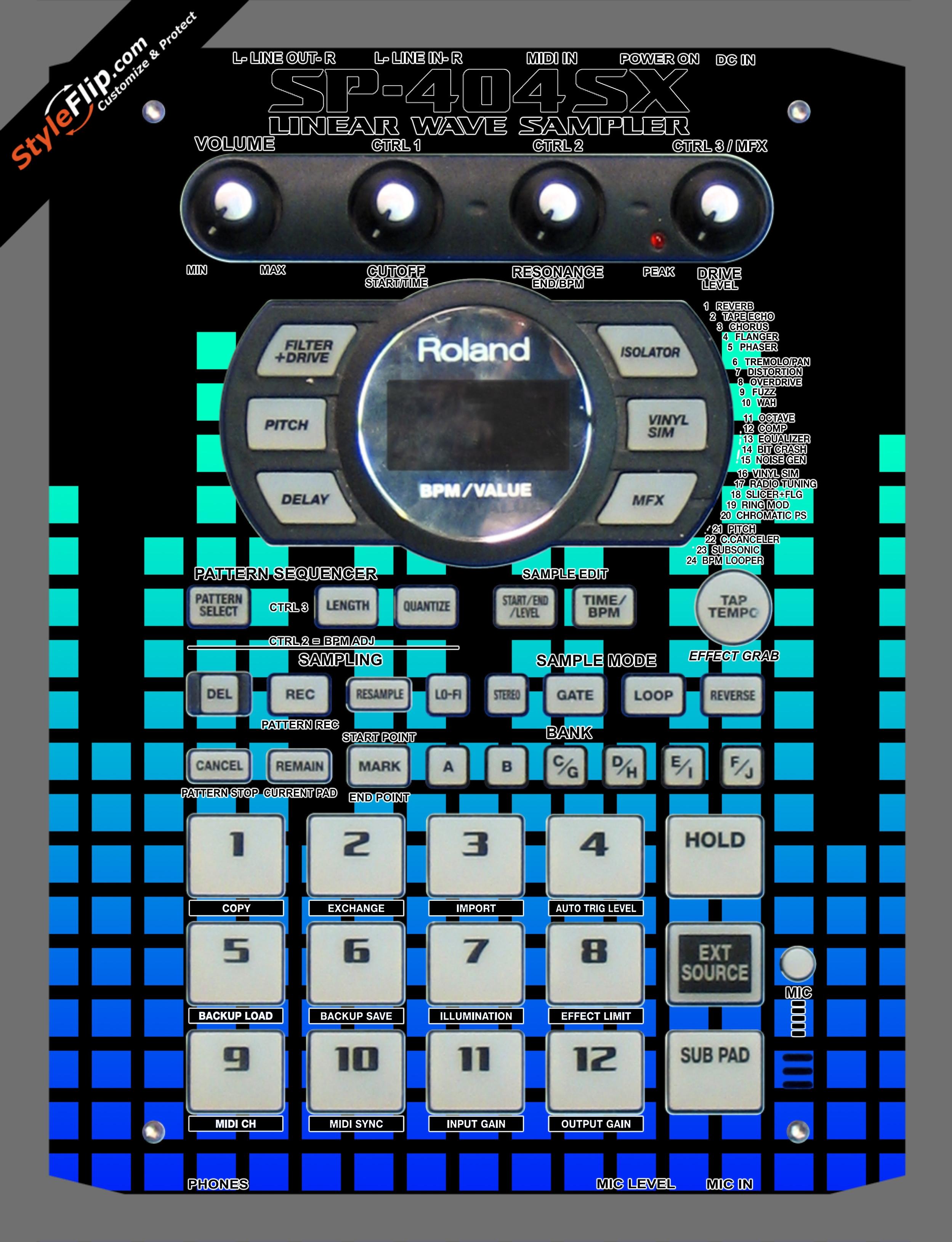 Blue Equalizer  Roland SP-404 SX