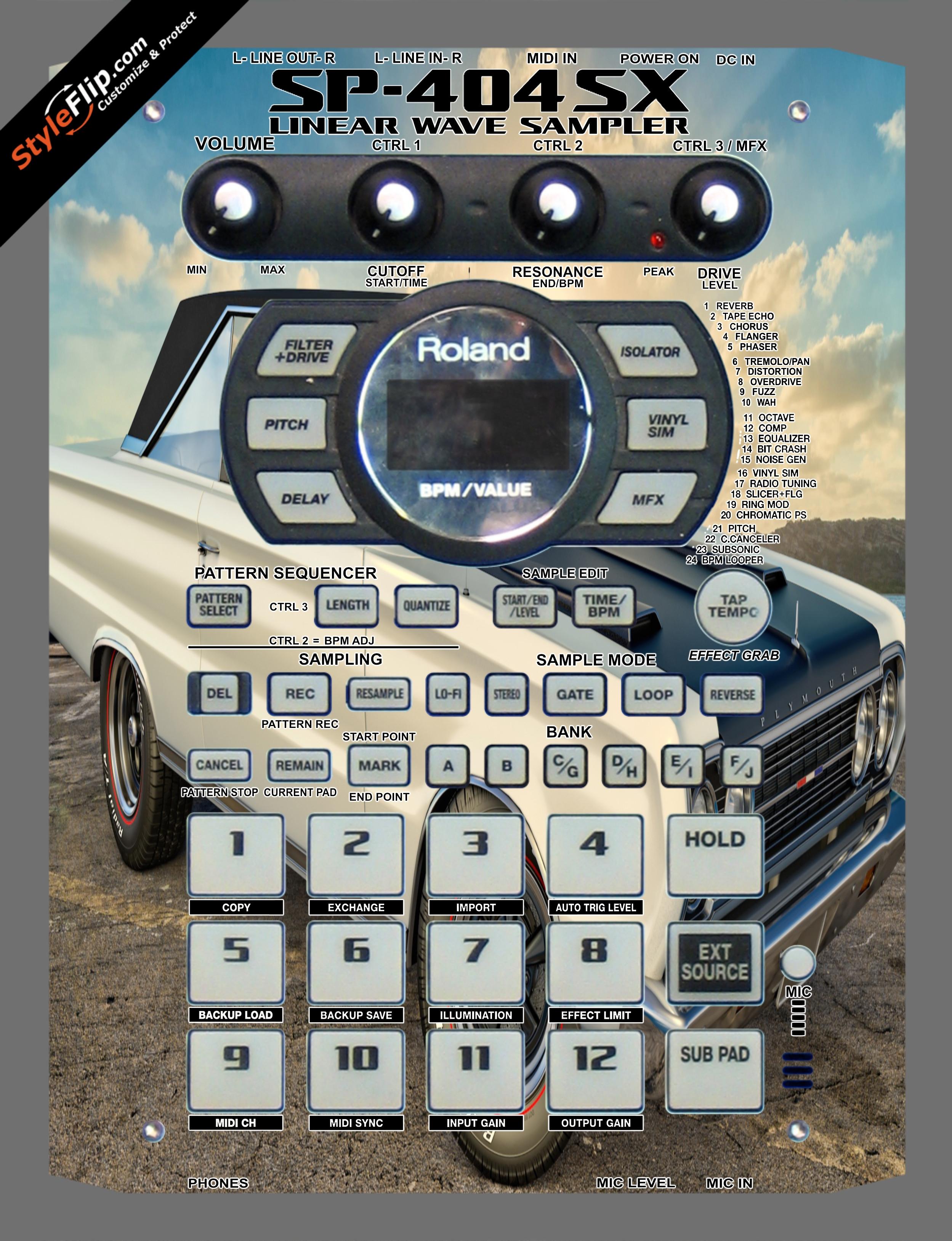 Burnout  Roland SP-404 SX