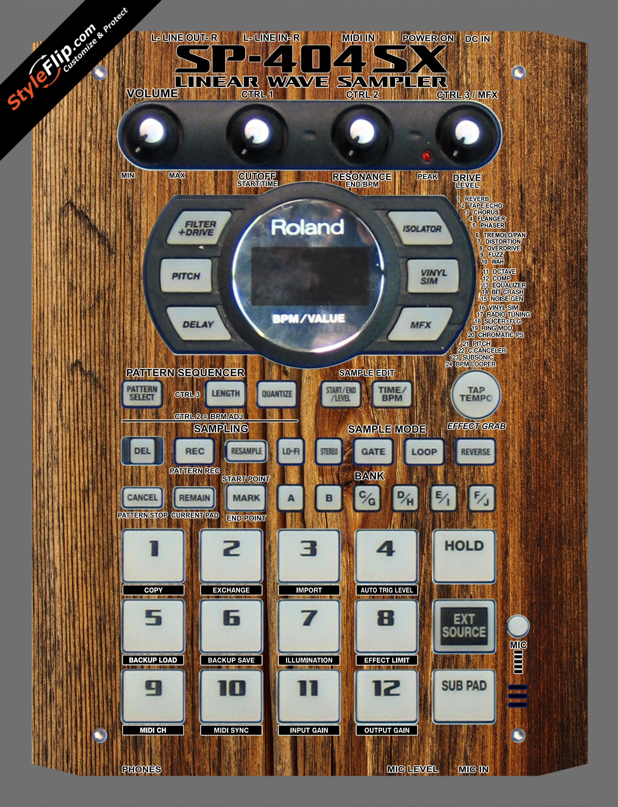 Classic Wood  Roland SP-404 SX