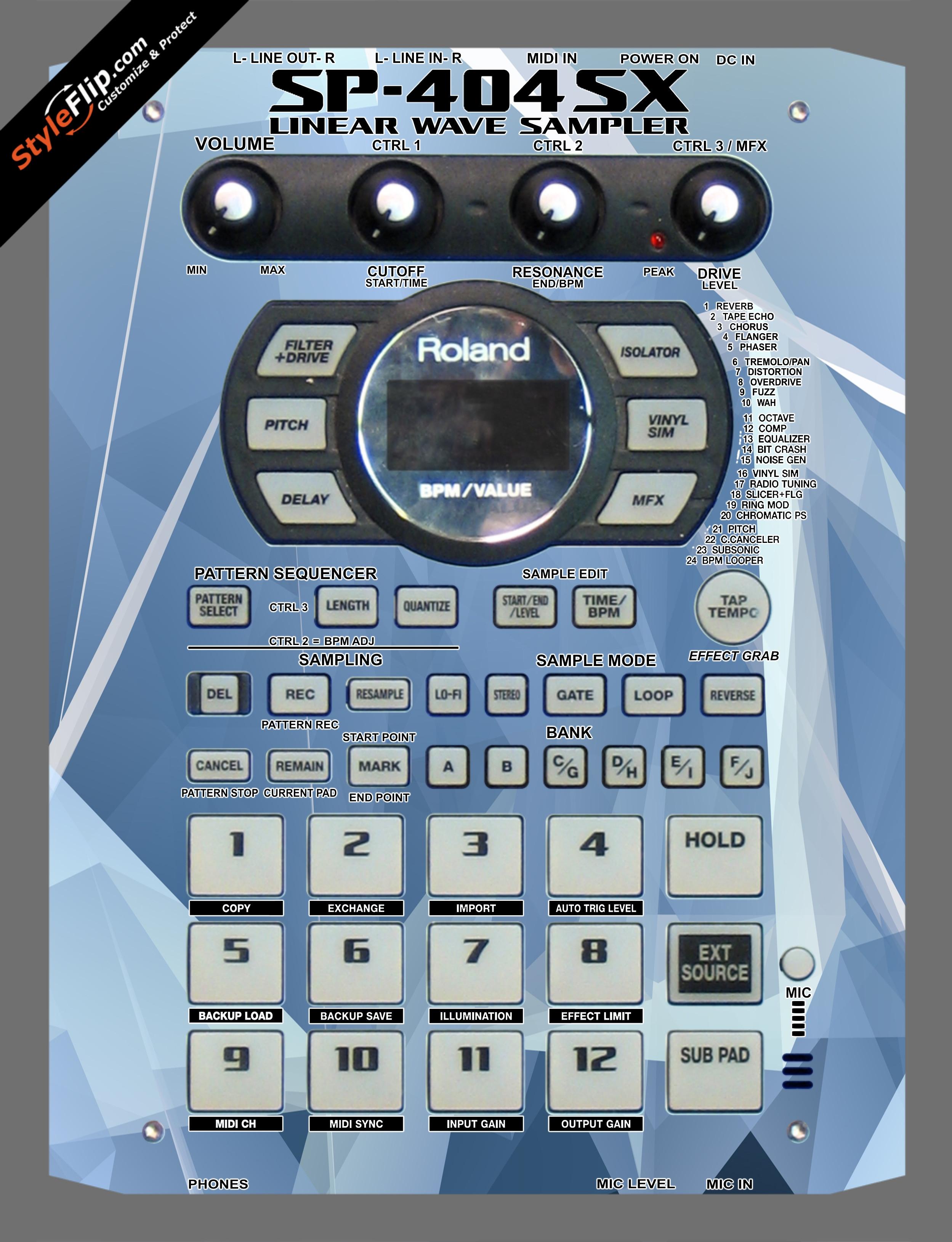Crystal Roland SP-404 SX