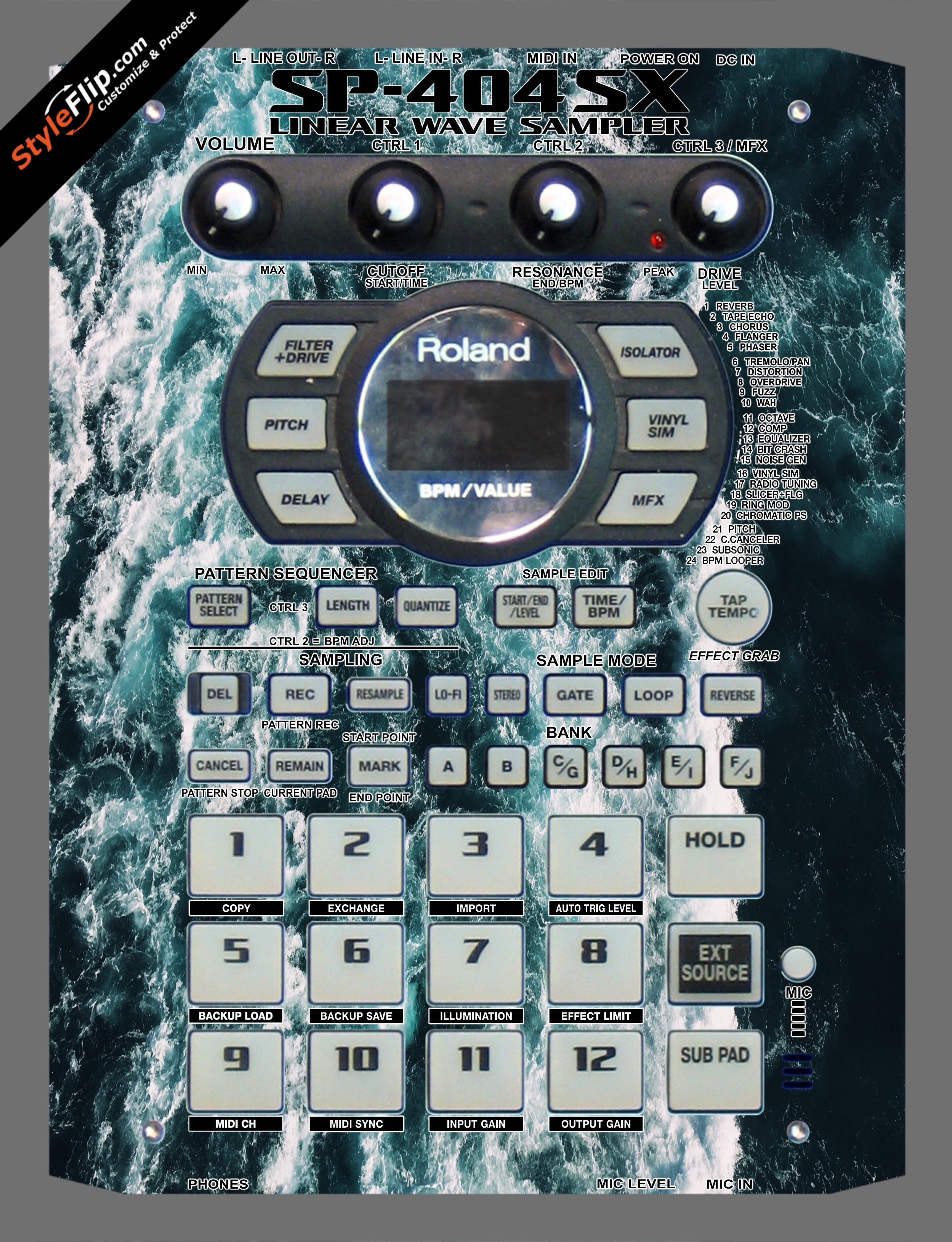 Deep Blue  Roland SP-404 SX