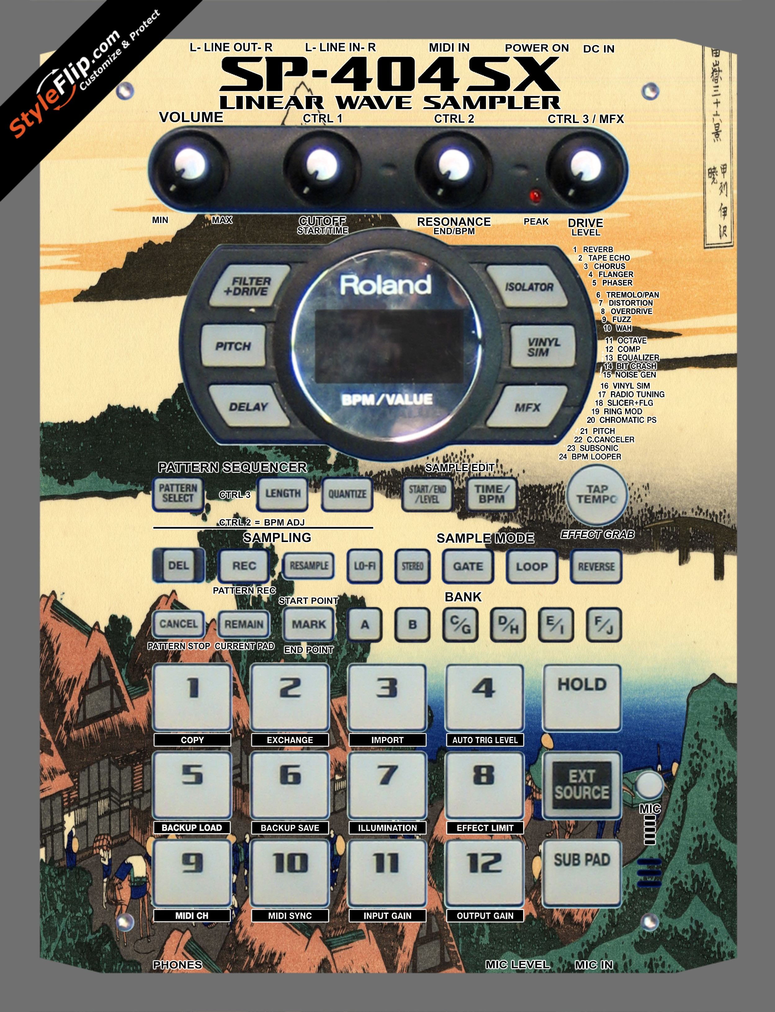 Fuji  Roland SP-404 SX