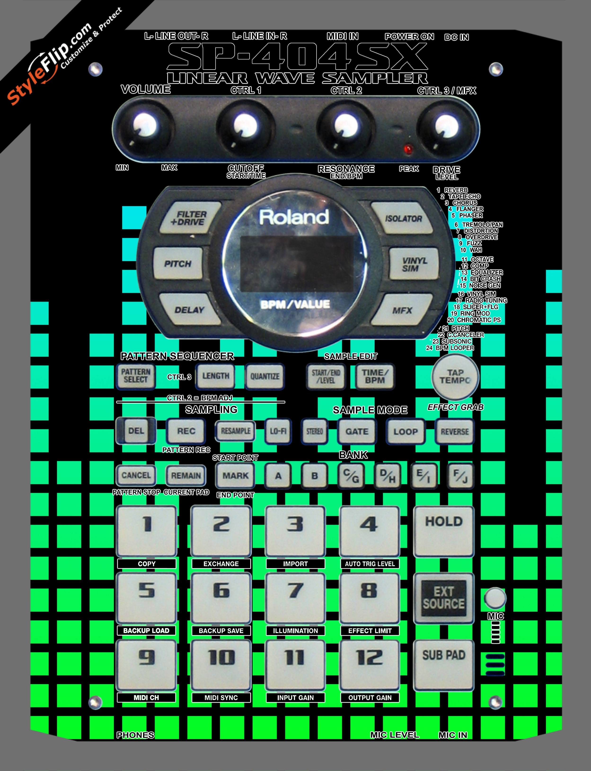 Green Equalizer  Roland SP-404 SX
