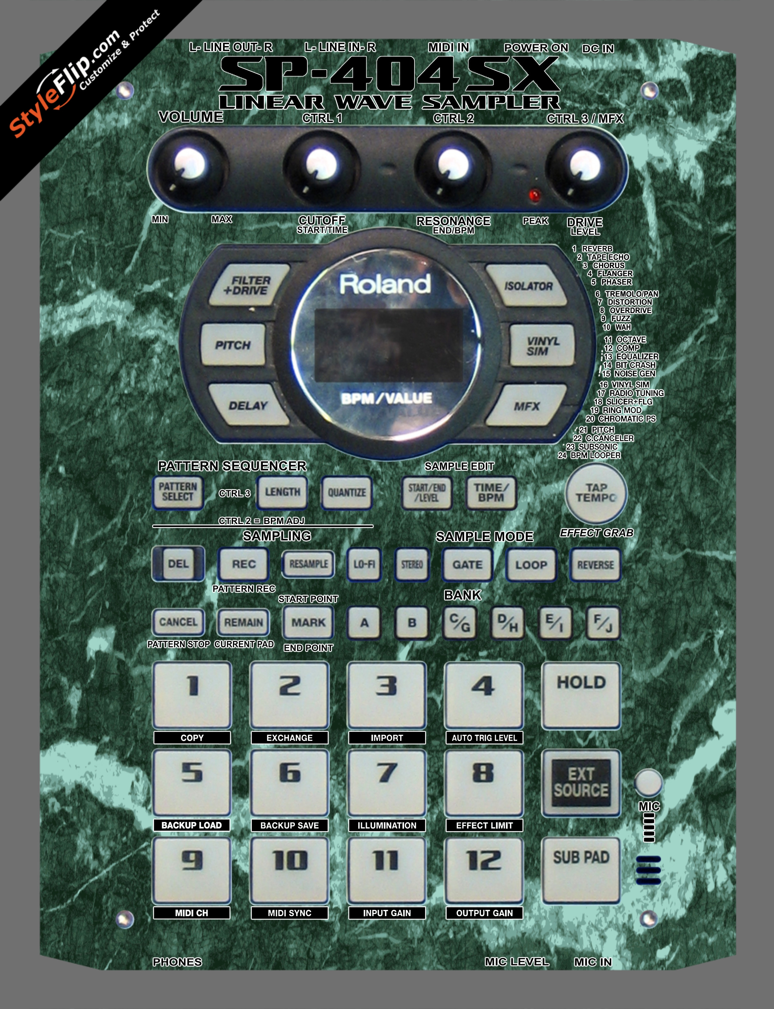 Green Marble Roland SP-404 SX