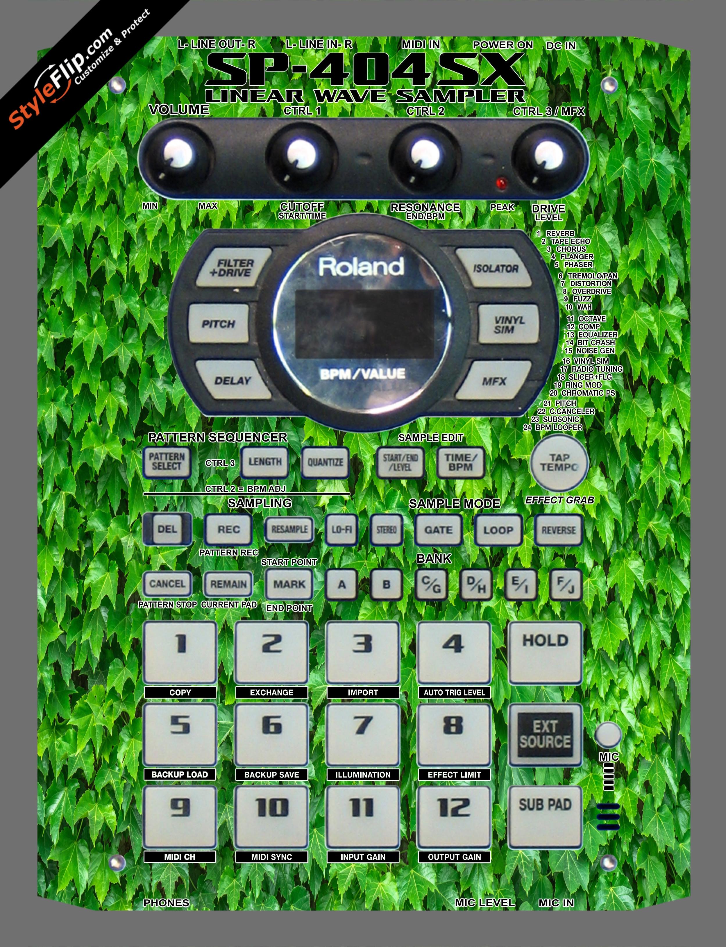 Greenery  Roland SP-404 SX