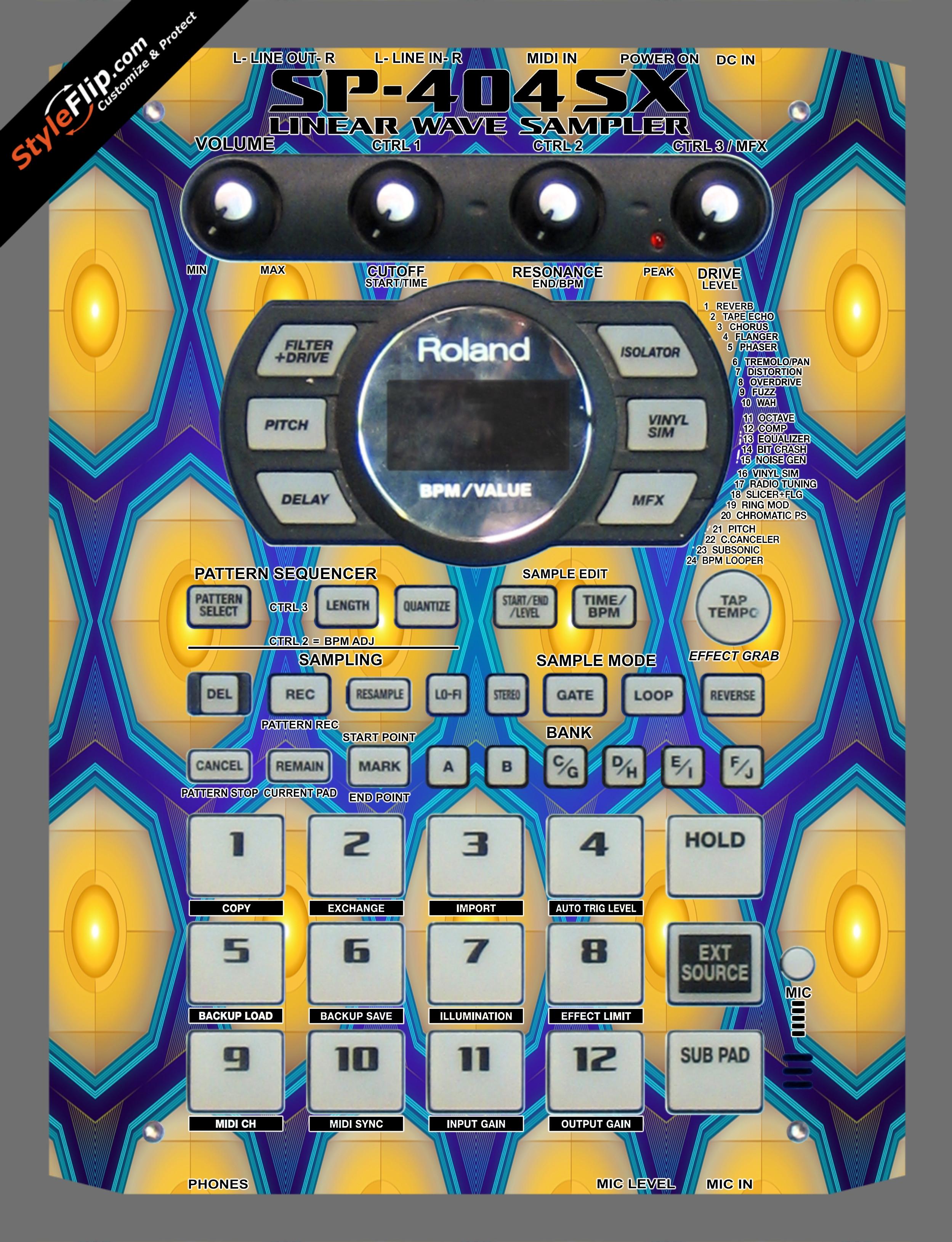 Honeycomb  Roland SP-404 SX