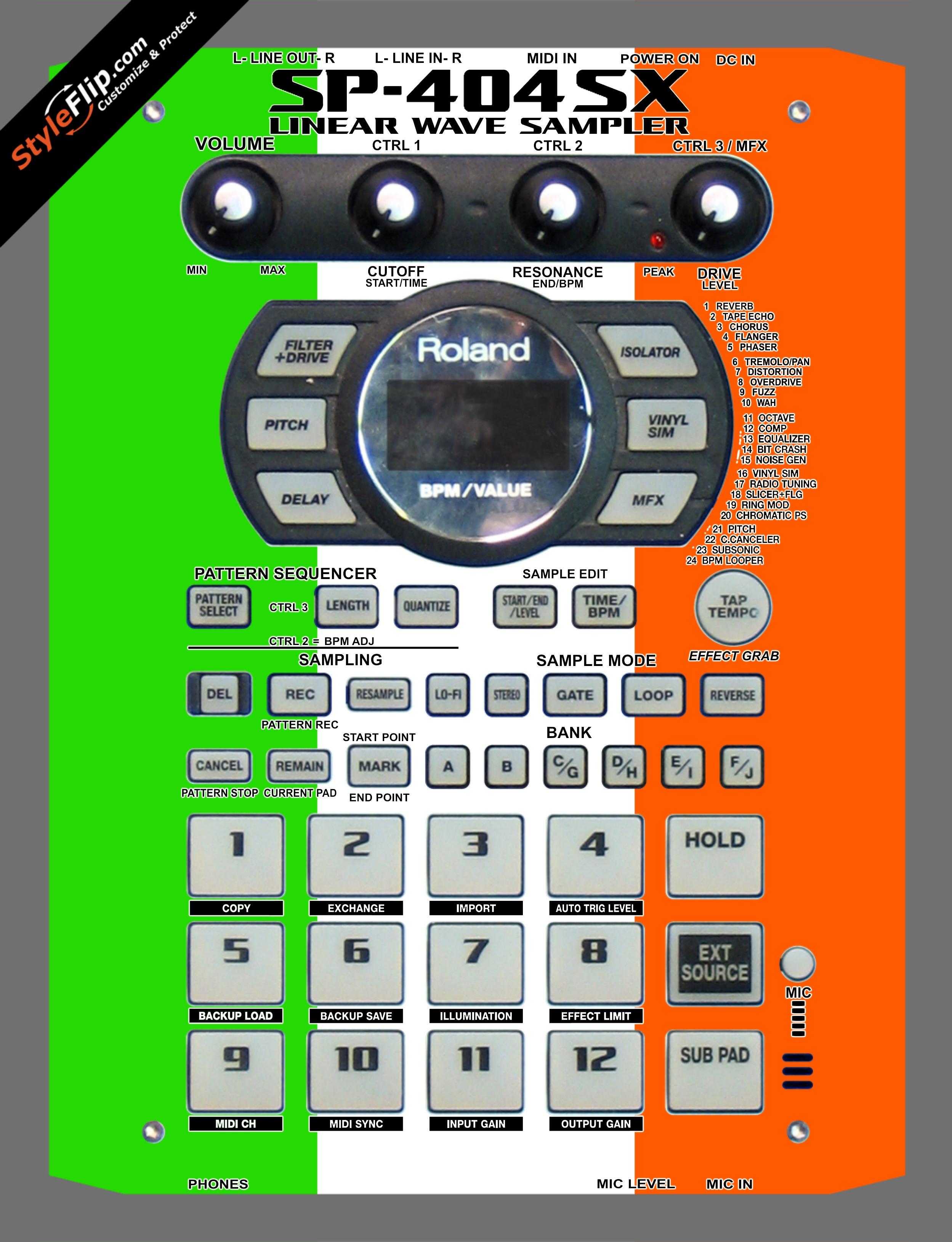Irish Flag  Roland SP-404 SX