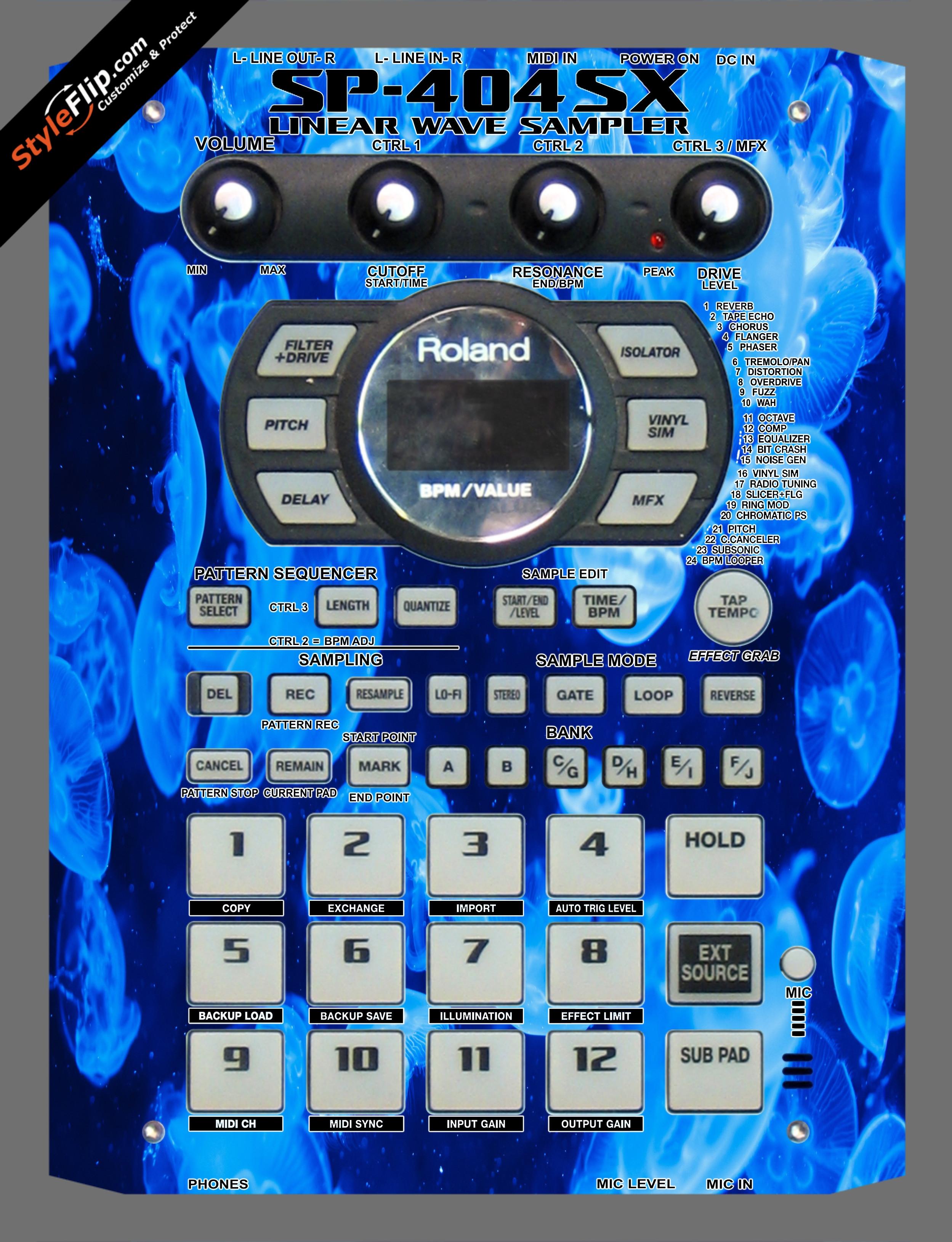 Jellyfish Roland SP-404 SX