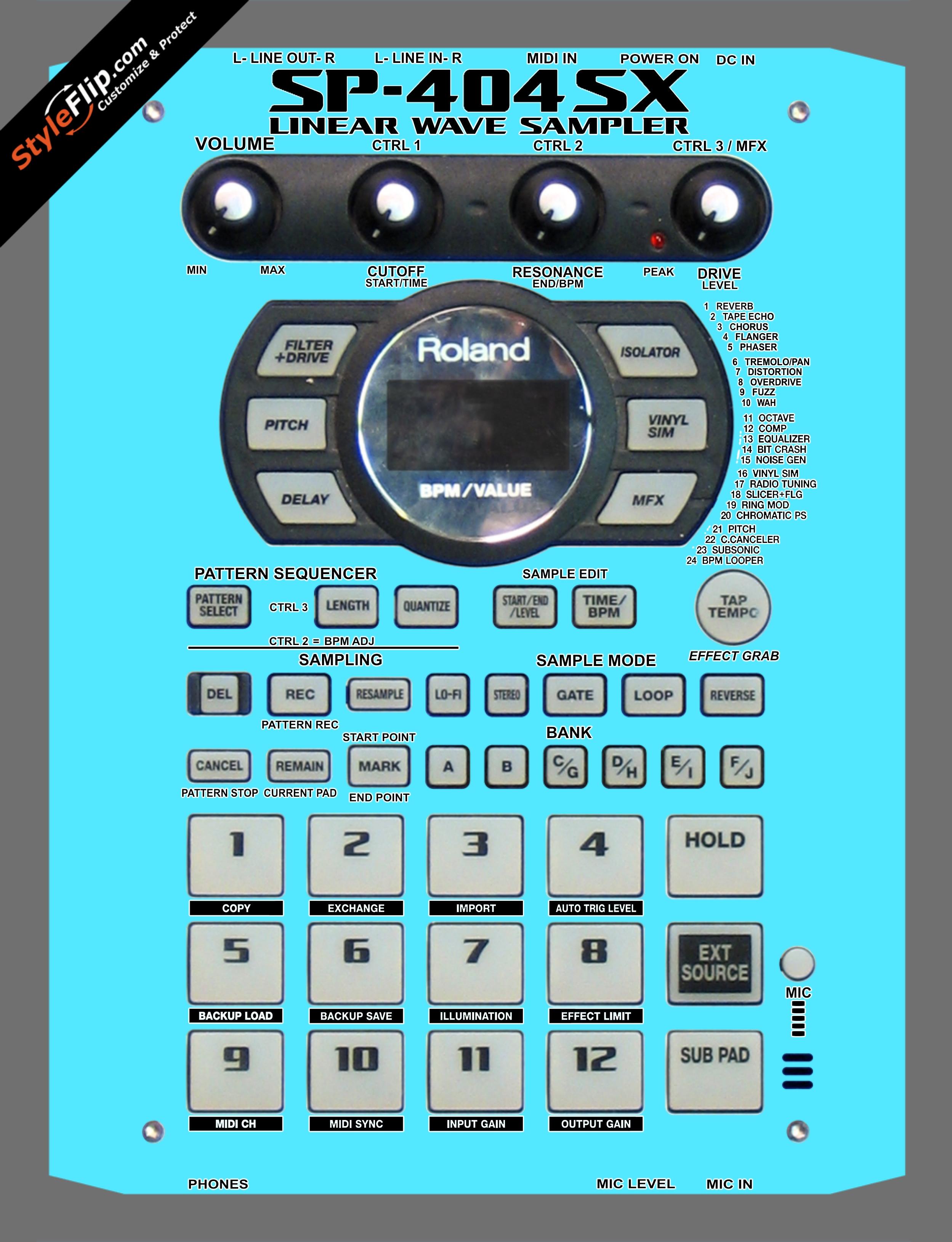 Solid Blue Roland SP-404 SX