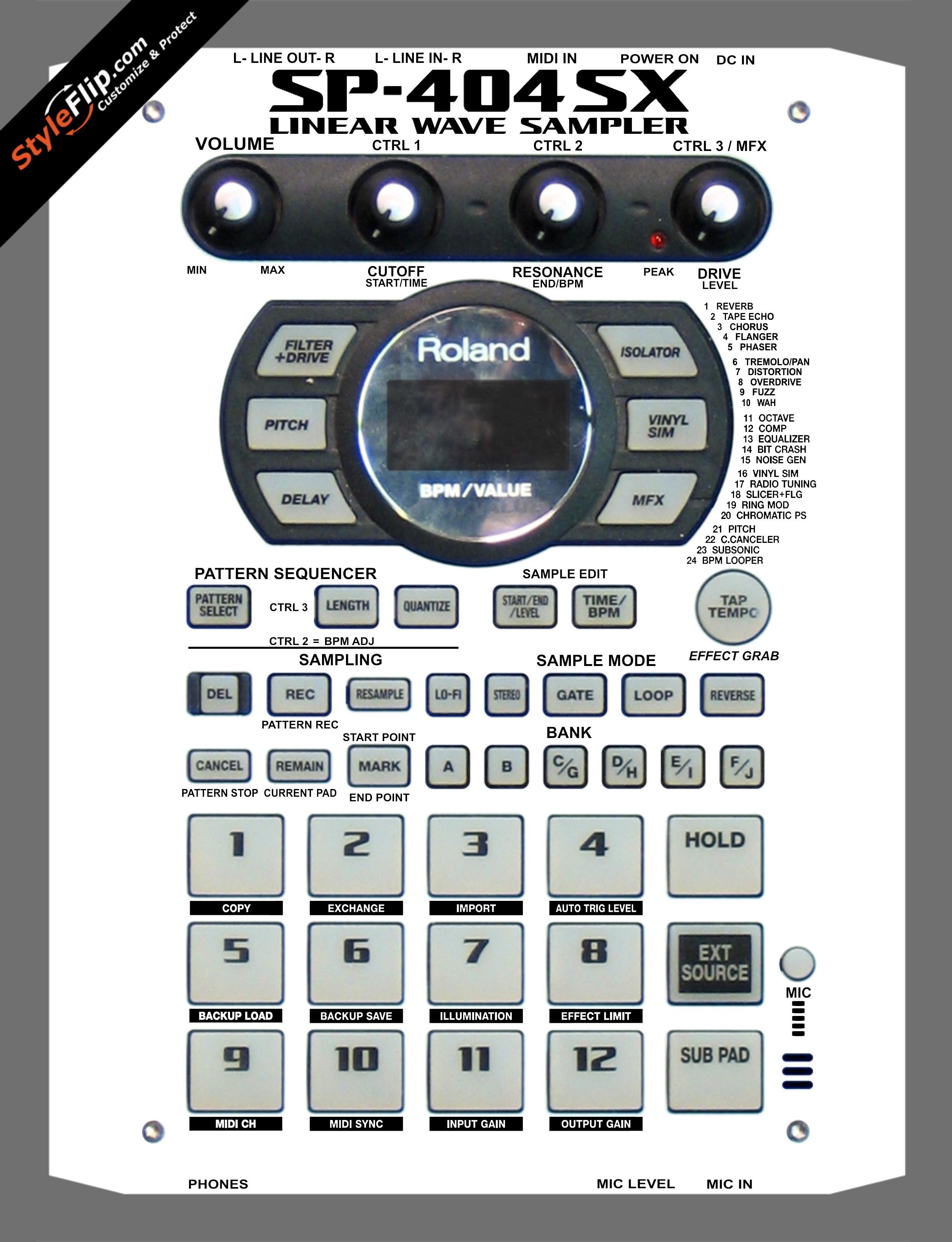 Solid White Roland SP-404 SX