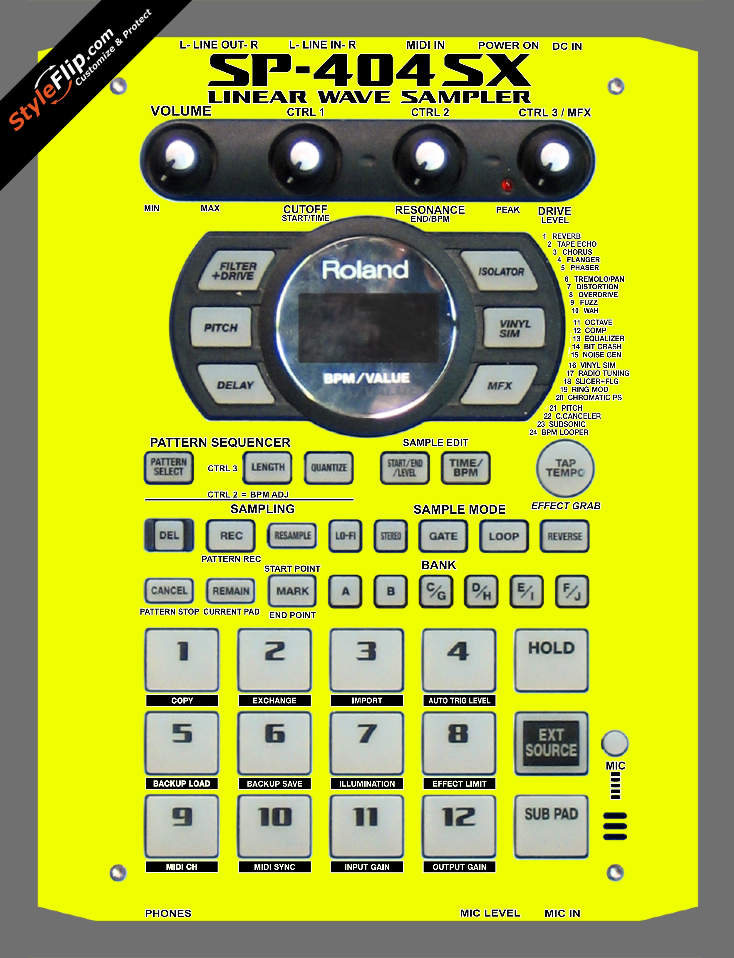 Solid Yellow Roland SP-404 SX