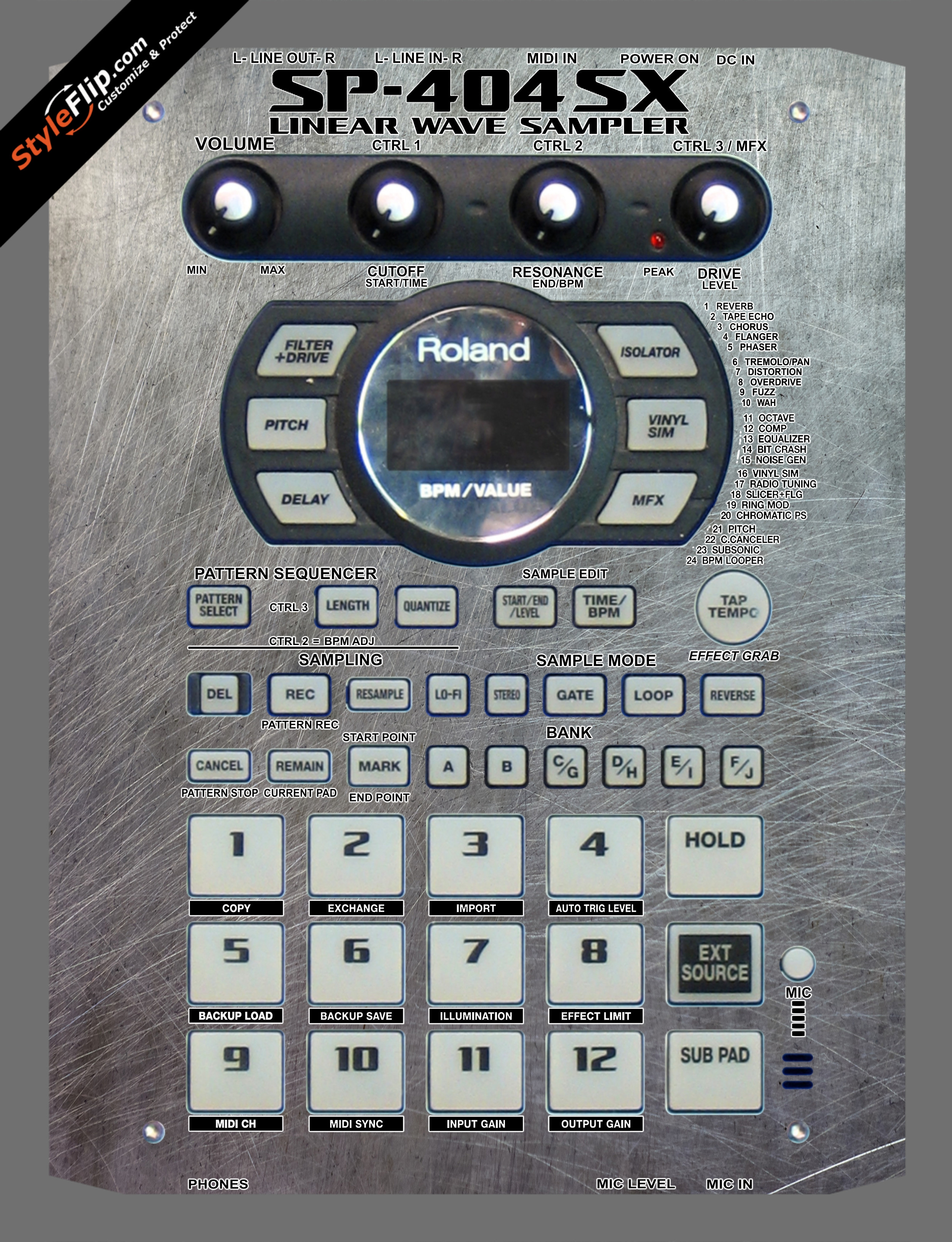 Steel Your Faceplate Roland SP-404 SX