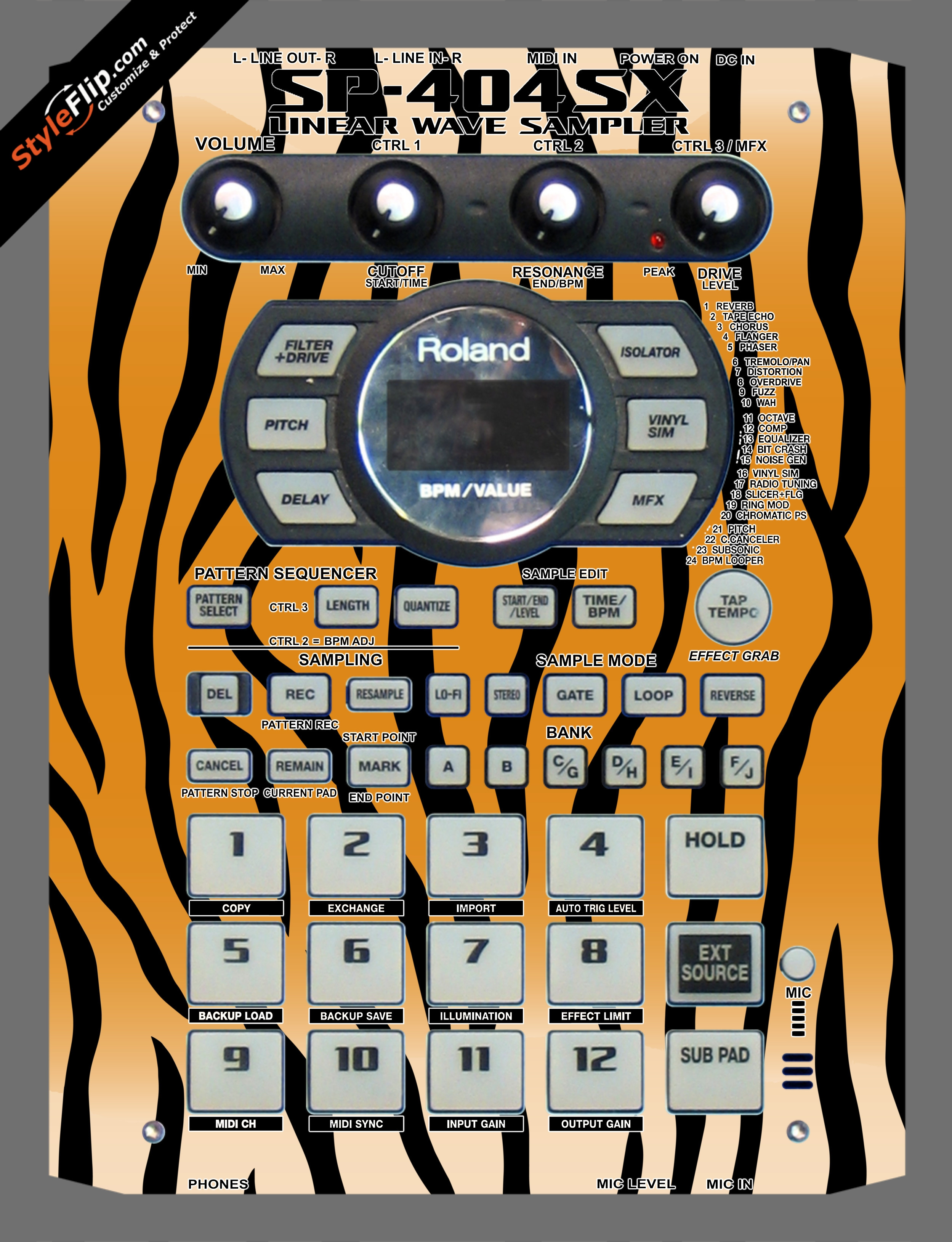 Tiger Stripes Roland SP-404 SX
