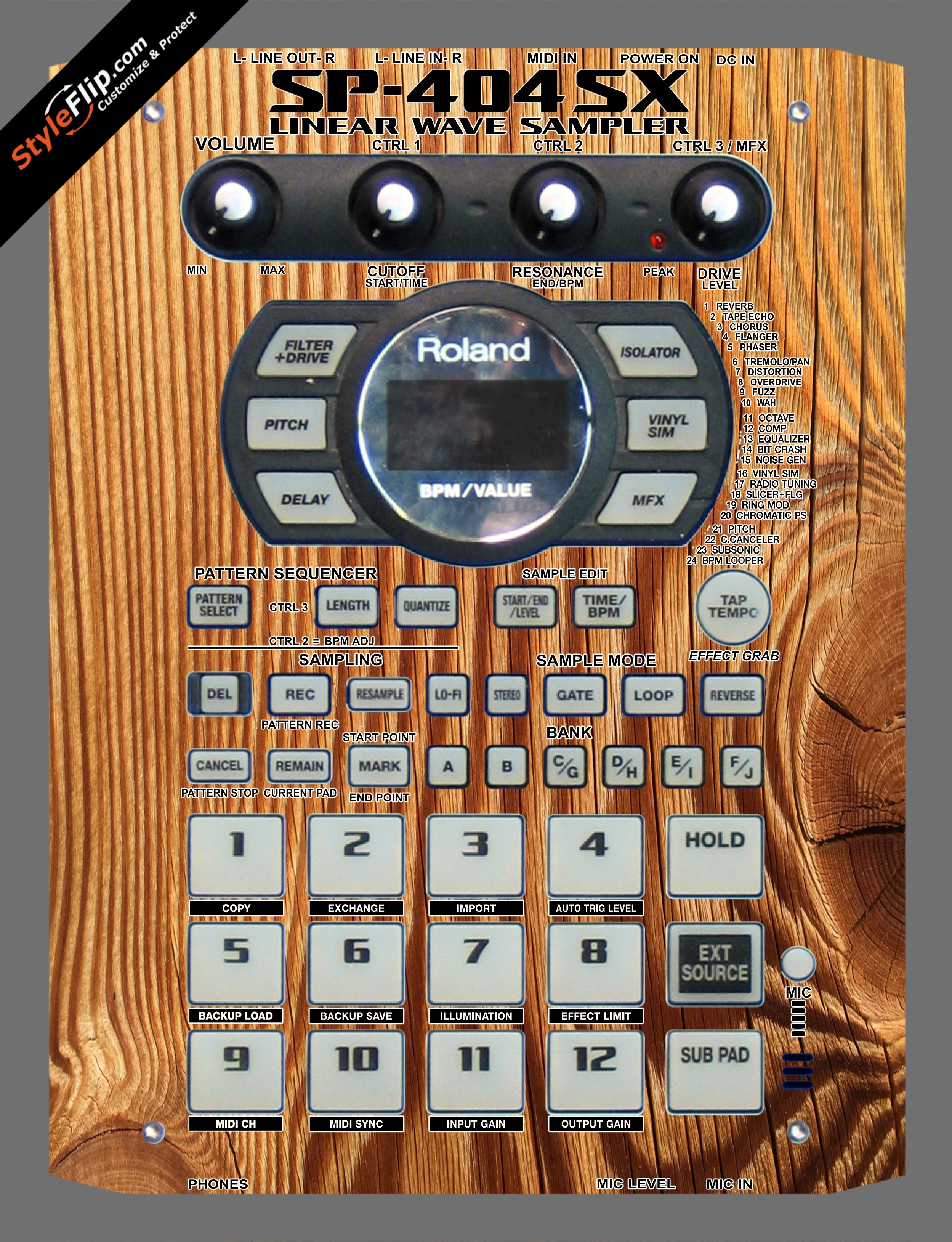 Tree Rings  Roland SP-404 SX